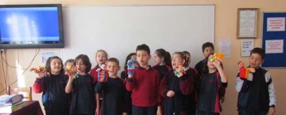 3. Sınıf Öğrencilerimiz Oyunlarla İngilizce Öğreniyor