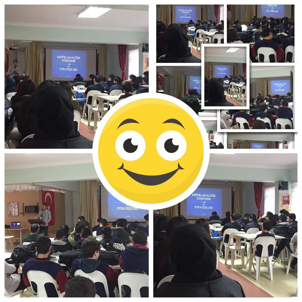 """""""Kritik-Analitik Düşünme ve Stratejileri"""" konulu seminer düzenlendi."""