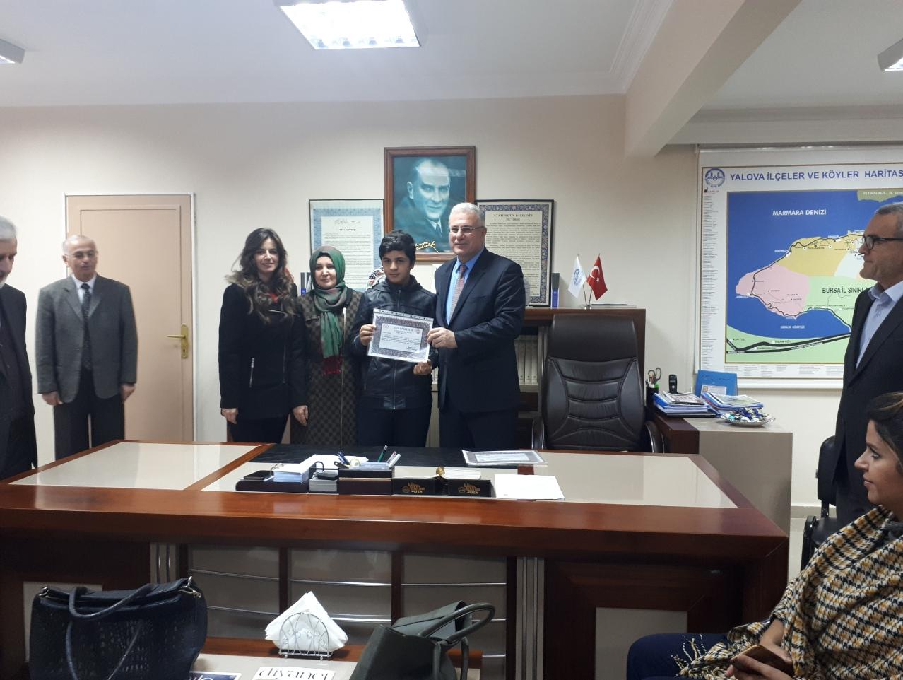 Dereceye Giren Öğrencimiz Ödülünü Aldı