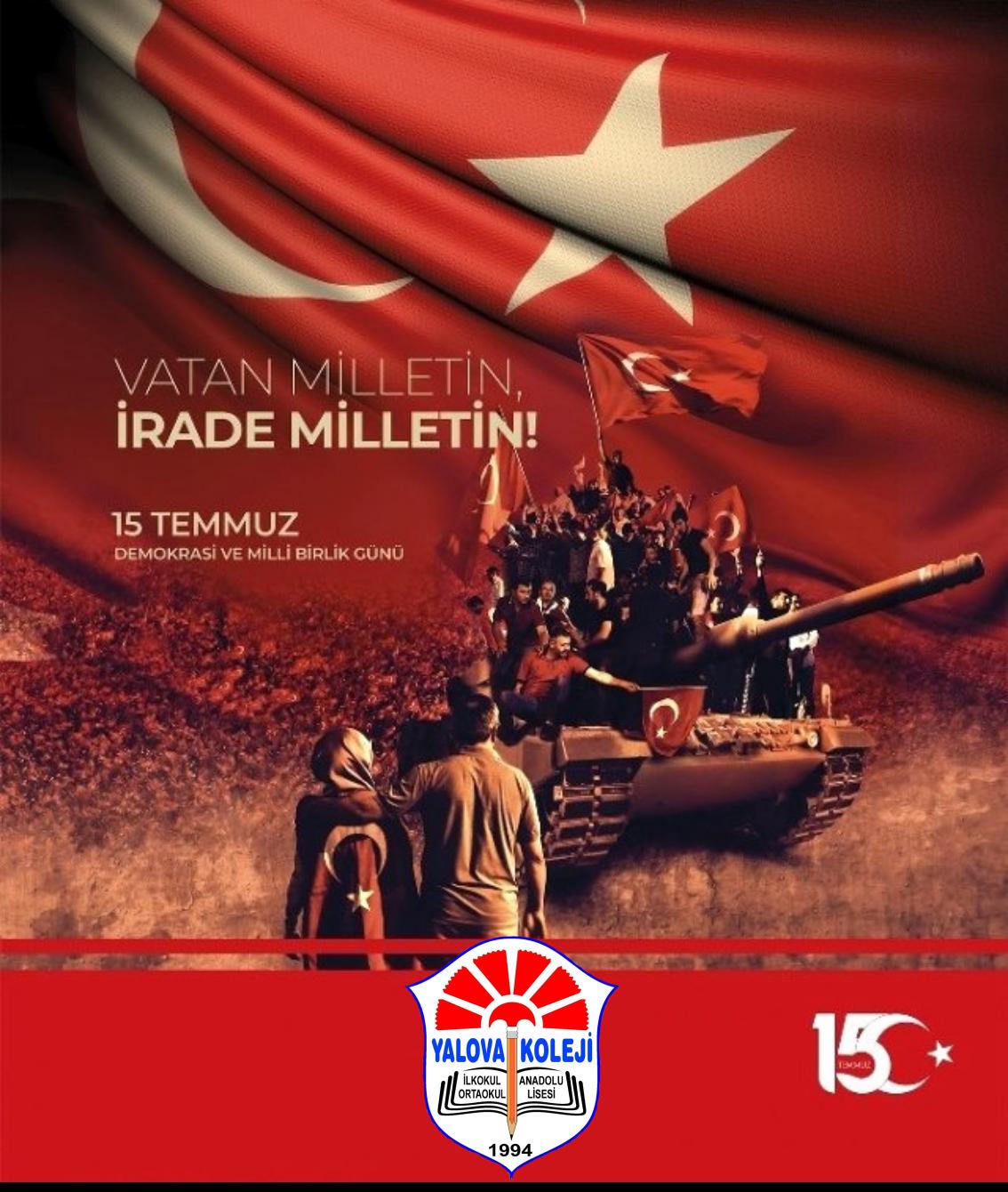 15  Temmuz Milli Birlik ve Demokrasi Günü